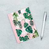 a6 notebook lined pages 60 page note book cute kawaii uk stationery notes tropical palm palms leaves