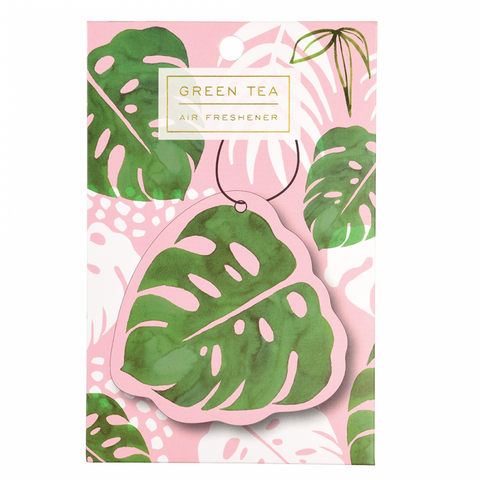 scented hanging air freshener cute kawaii gift gifts uk palm leaf palms tropical green tea scent
