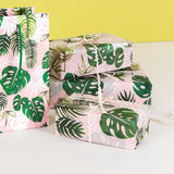 tropical palm palms leaf leaves tissue wrap paper uk cute kawaii packaging supplies packing pink green papers