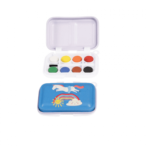 unicorn kids painting set unicorns and happy cloud rainbows pretty art tin paints kawaii gift gifts uk child mini