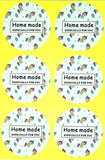 unicorn thank you round sticker stickers sheets of 12 uk packing packaging homemade happy birthday