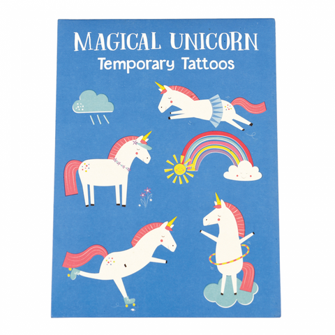 Pack of 2 magical magic unicorn temporary tattoos tattoo cute kawaii unicorns gift gifts girl girls uk rex london
