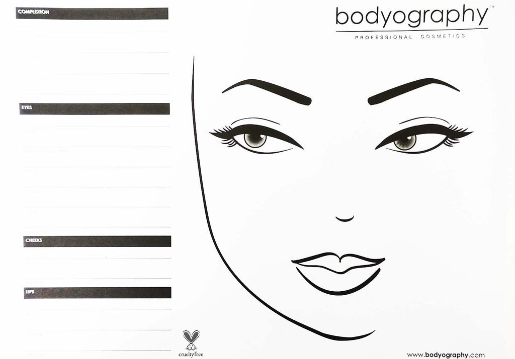 Face chart pad covet nation