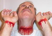 Slashed throat prosthetic