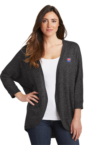 Ladies Marled Cocoon Sweater - NFL Alumni Store