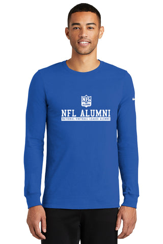 Nike Dri-FIT Cotton/Poly Long Sleeve Tee - NFL Alumni Store