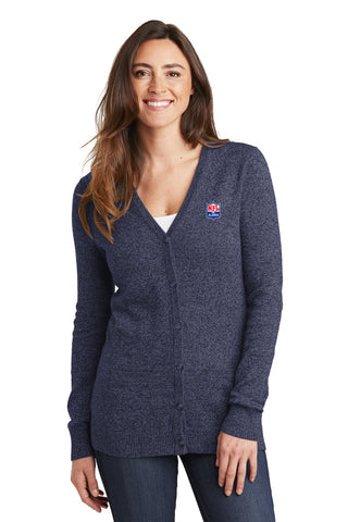 Ladies Marled Cardigan Sweater - NFL Alumni Store