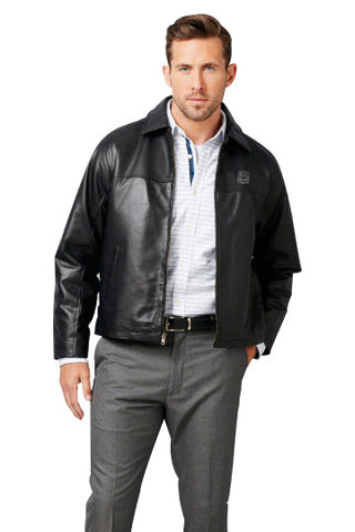 Burk's Bay Lamb Black Driving Jacket - NFL Alumni Store