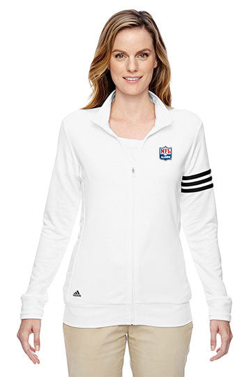 Adidas Golf - ClimaLite® 3-Stripes French Terry Full-Zip Jacket - NFL Alumni Store