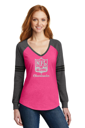 Women's Game Long Sleeve V-Neck T-Shirt **Cheerleader Edition** - NFL Alumni Store