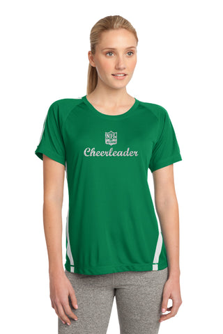 Ladies Color Block PosiCharge Competitor Tee - Cheerleader Edition - NFL Alumni Store