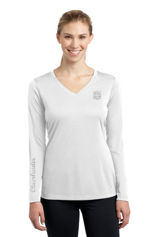 Ladies Long Sleeve V-Neck Tee - Cheerleader Edition - NFL Alumni Store