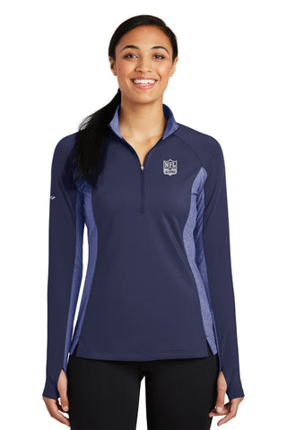 Ladies Sport Contrast 1/2 Zip Pullover - Cheerleader Edition - NFL Alumni Store