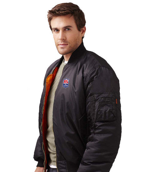 Burk's Bay Bravo MA-1 Nylon Flight Jacket - NFL Alumni Store