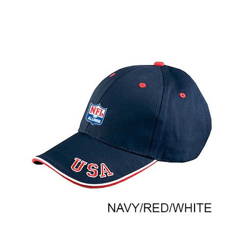 6-Panel Mid-Profile Cap with USA Embroidery - NFL Alumni Store