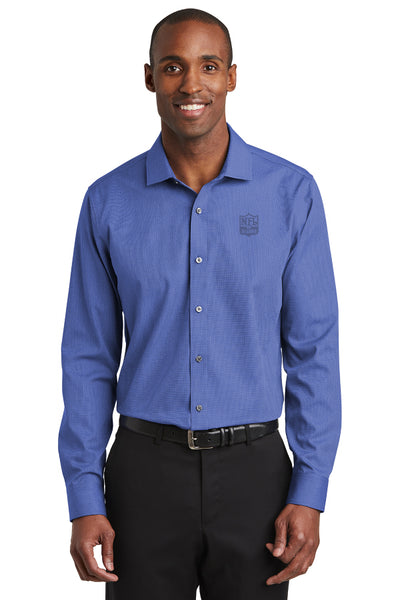Slim Fit Nailhead Non-Iron Shirt- Clearance - NFL Alumni Store