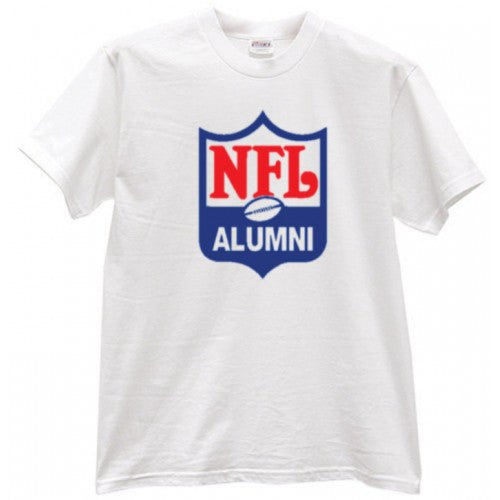 Shield Design White T-Shirt - NFL Alumni Store
