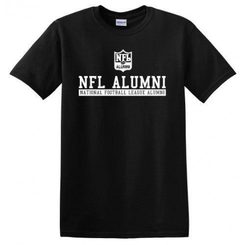 NFL Alumni Shield Design Black T-Shirt - NFL Alumni Store
