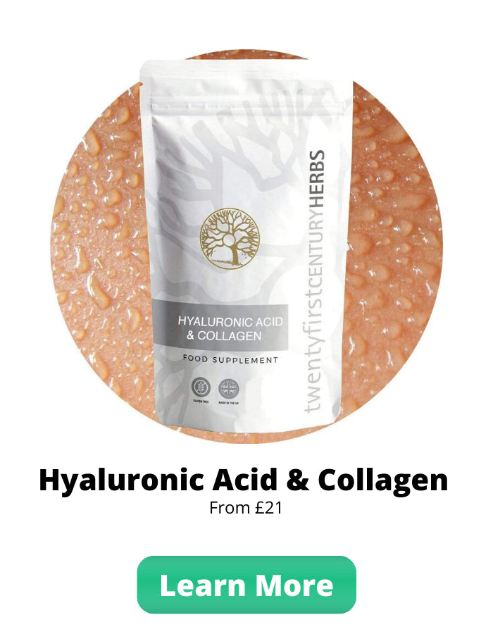 Hyaluronic Acid & Collagen - Healthier Skin Hair & Nails by Twenty First Century Herbs