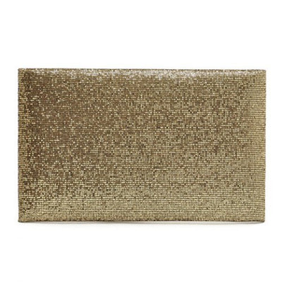 Graceful Sequined and Metallic Design Women's Evening Bag