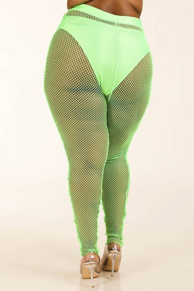 Panty Lined Mesh Leggings CV2920