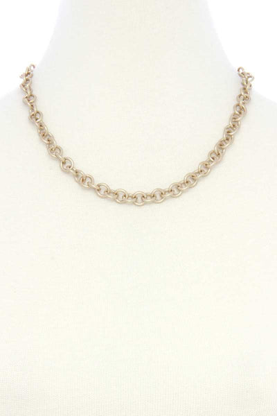 Circle Link Metal Necklace