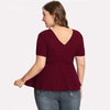 Curvestyles Cut Out Slim Top Plus Size CS1258