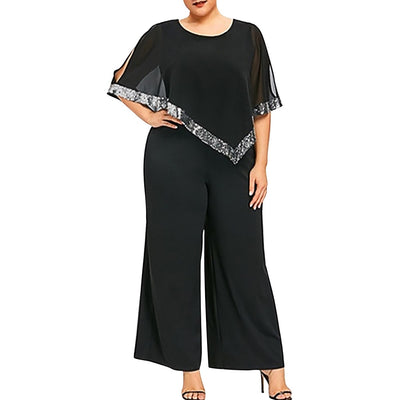 Curvestyles Wide Leg Jumpsuit CS12151