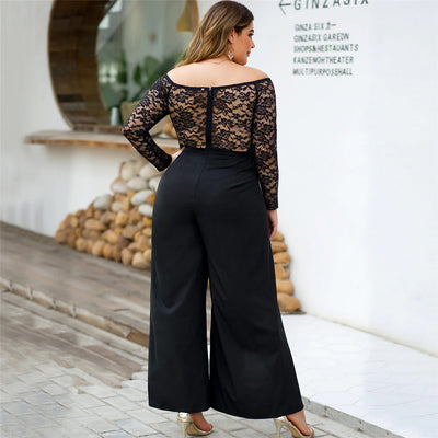 Curvestyles Zipper High Waist Jumpsuit