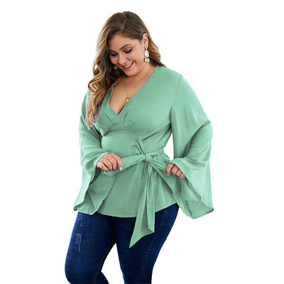 Curvestyles Belt Elegant Top Plus Size CS1231