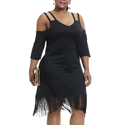 CURVESTYLES TASSEL DRESS CS92202