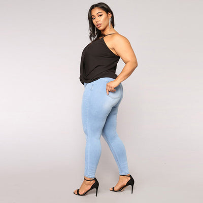 CURVESTYLES STRETCH & HIGH WAIST JEANS CS1308