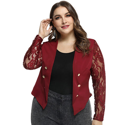 CURVESTYLES LACE & SHORT JACKET