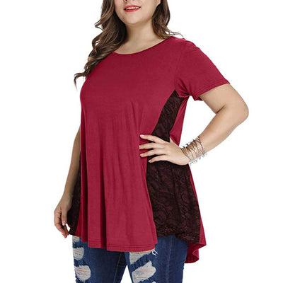 Plus Size Lace T Shirt CS1962