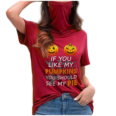 CURVESTYLES Halloween Graphic Tops CS1383