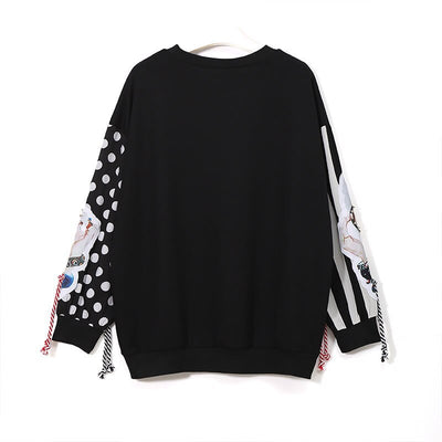 Curvestyles Graphic  Tassel Sweatshirt CS12169
