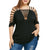 Plus Size Hollow Out V-Neck Cut Out Strappy Shirt Tops CS3061