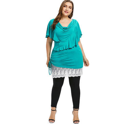 CURVESTYLES RUFFLED TOP CS123