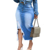 CURVESTYLES DENIM SKIRT CS16204