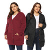 Curvestyles Big Pocket Cardigan Plus Size CS19122