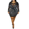 Curvestyles Trumpet Dress Plus Size  CS1257