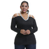 Curvestyles Shoulder Off Top Plus Size CS1256