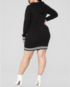 Curvestyles Hoodie Dress CS2011