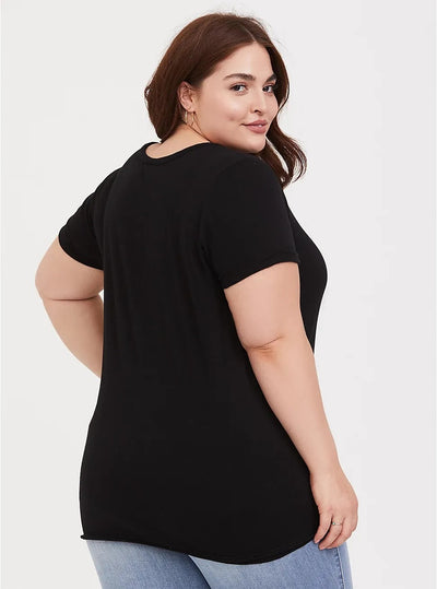 PLUS SIZE LADDER SLASH T - SHIRT CS1062