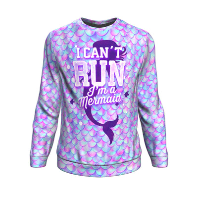 Curvestyles Sweatshirt CS12112 | I Can't Run I'm a Mermaid