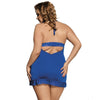 NEW & NOW Sexy Blue Lace Lingerie Plus Size