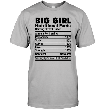 BIG GIRL BLACK UNISEX T-SHIRT
