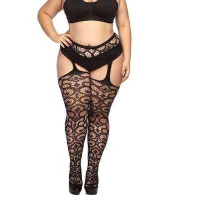 5 Styles Fashion Women Suspender Pantyhose Tights Plus Size Stockings
