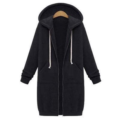 Pockets Zip Up Outerwear Hoodies