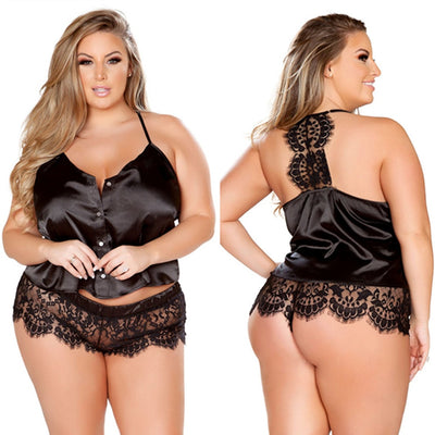 Curvestyles Two Piece Babydoll Lingerie CS2762